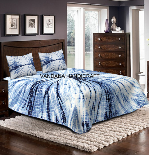 Fair Tie Dye Soft Luxury Comfort Coverlet BedSpread 100%Cotton BedSheet 3-Piece