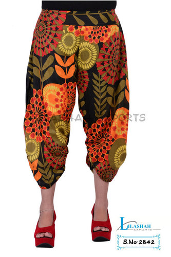 Cotton Printed Short Black Color Trouser