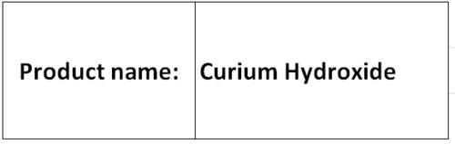 Curium Hydroxide