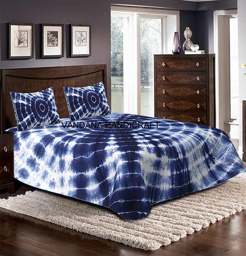 Tie Dye Soft Luxury Comfort Coverlet BedSpread 100%Cotton BedSheet WITH 2 PILLOW