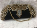 Designer Beaded Silk Clutch Bag