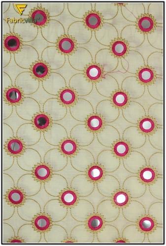 Designer Embroidery Cotton Fabric