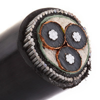 H.T XLPE Aluminium Armoured Cable 11KV 3 Core 50 mm