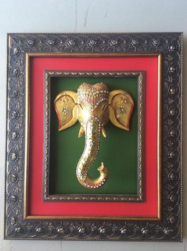 Lord Ganesha Framed Wall Decor