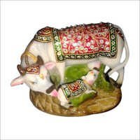 Marble Hand Crafted Kamdhenu Cow