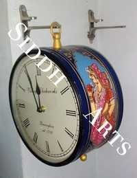 Designer Hand Painted Station Clock