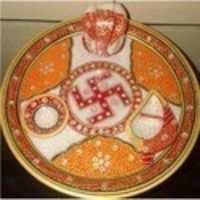 Marble Pooja Thali Diwali Gifts