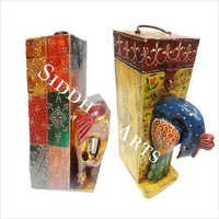 Wooden Hand Painted Wine Boxes