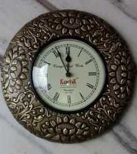 Wooden Brass Fitted Wall Clock