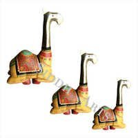 Wooden Camel Decorative Figurine