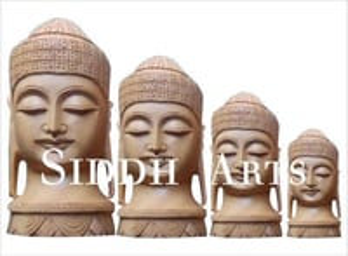 Wooden Hand Carved Buddha Idols