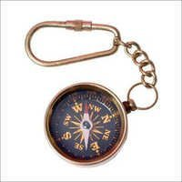 Antique Compass Key Chain