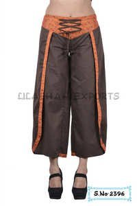 Cotton Plain Brown Color Trouser