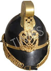 Medieval Fire Chief Leather Finish Armour Helmet