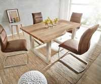 Live Edge Dining Table with Nickel legs