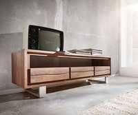Wooden Live Edge Media Unit
