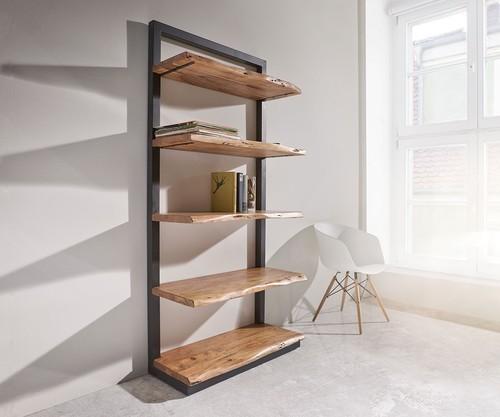 Wooden Live Edge Book Shelf