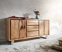 Live Edge 3 Drawers Sideboard