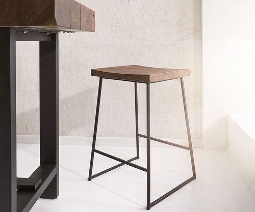 industrial Bar Chair with footrest
