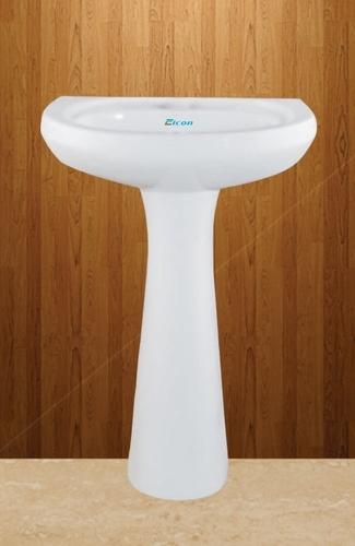 Oval Shaped Pedestal Wash Basin