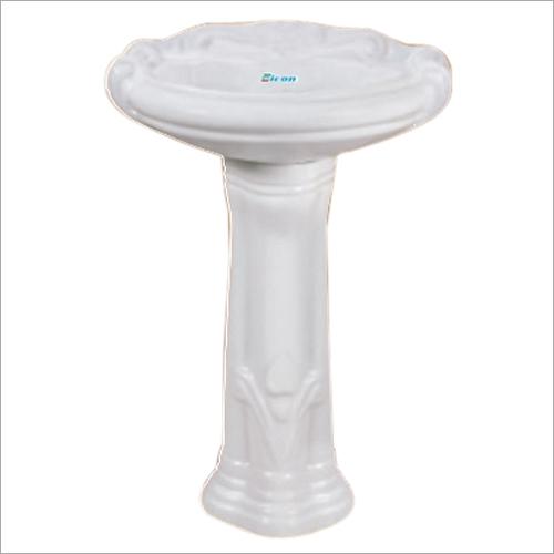 Plain White Pedestal Wash Basin