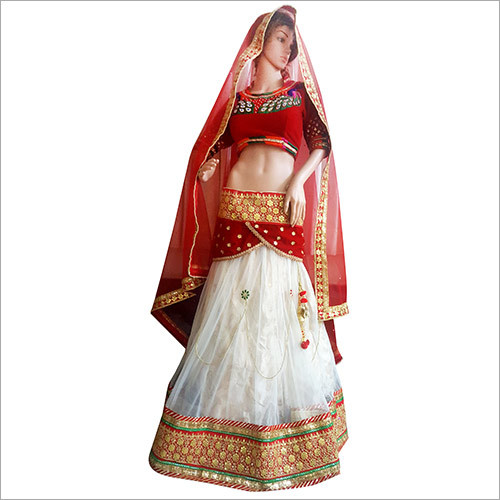White Red Designer Lehenga