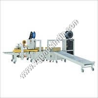 Combo model automatic strapping cum taping machine