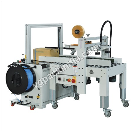 VG Strapping cum taping machine combo Model
