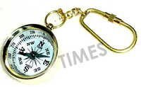 Miniature Compass White Keyring