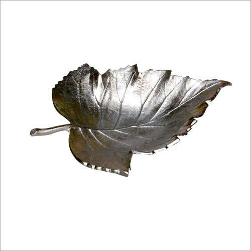 Alumuniume Leaf Tray With Nickel Finished.