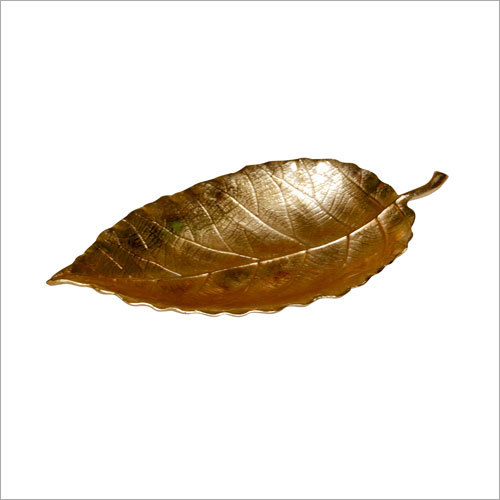 Leaf Tray With Gold Finished