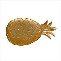 Pineapple Dish With Gold Finished Made Of Alumuniume