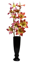 Artificial Glitter Lilly Flower Stem 5x1