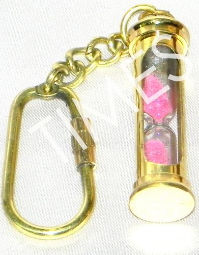 Pink Sand Timer Keychain