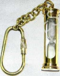 White Sand Timer Keychain