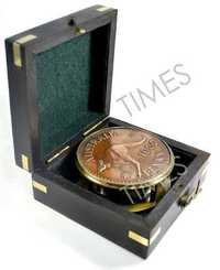 Nautical Compass with Wooden Case