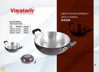 COLOR KADAI INDUCTION BASE WITH SS HANDLE