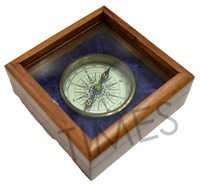 Compass with Wooden Case