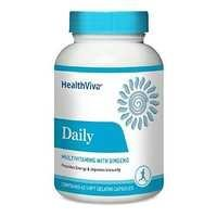 Healthviva Daily (Multivitamin with Ginseng), Unflavoured Capsules