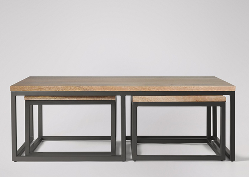 Industrial Coffee Table with stools