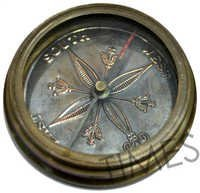 Antique Nautical Pocket Compass