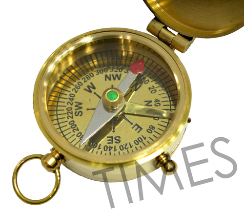 Nautical Lid Lock Pocket Compass