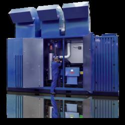 Oil-free multi-stage screw compressor units