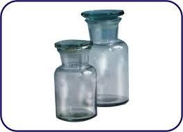 REAGENT BOTTLE WITH DUST PROOF FLAT STOPPER NARROW MOUTH