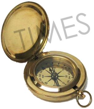 Nautical Brass Shine Compass