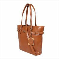 Tan Ladies Synthetic Leather Bags