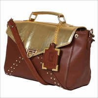 Golden Tan Synthetic Leather Bags