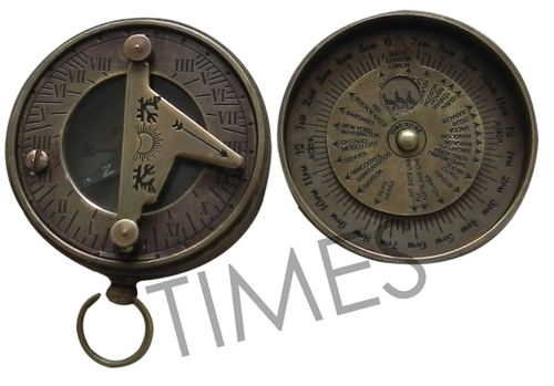 Antique Sundial Pocket Compass
