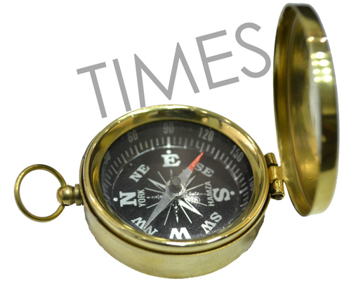 Antique Brass Pocket Compass
