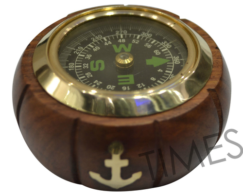 Nautical Wooden Compass